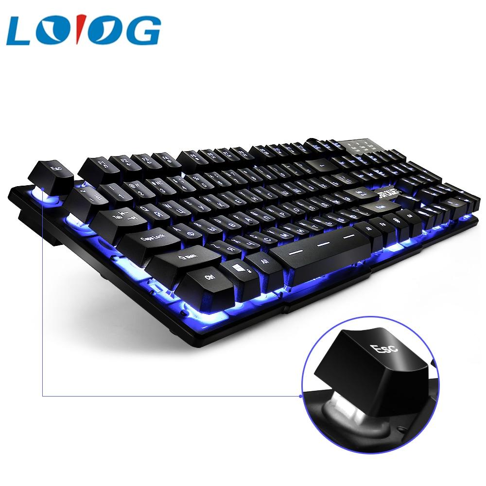Russa Jogo de Computador rato Teclado Mecanico Retroiluminado Led Backlight Gaming keyboard Usb Com sensação Mecânica teclado Russa