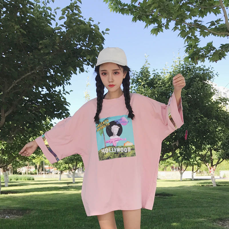 NiceMix Summer Korean Style Women T Shirts Breathable Cute Loose Womens Half Sleeve Tops Female T Shirt Casual Females Students in T Shirts from Women 39 s Clothing