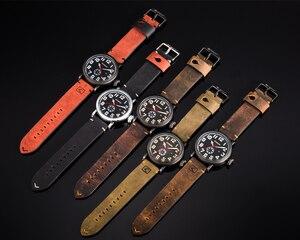 Image 5 - CURREN skórzany męski zegarek na pasku Fashion Design tarcza z cyframi męski wyświetlacz zegara data tydzień zegarek kwarcowy Hodinky Relogio Masculino