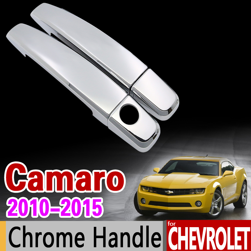 for Chevrolet Camaro 2010-2015 Luxuriou Chrome Handle Cover Trim Set 2011 2012 2013 2014 Car Accessories Stickers Car Styling hot sale abs chromed front behind fog lamp cover 2pcs set car accessories for volkswagen vw tiguan 2010 2011 2012 2013