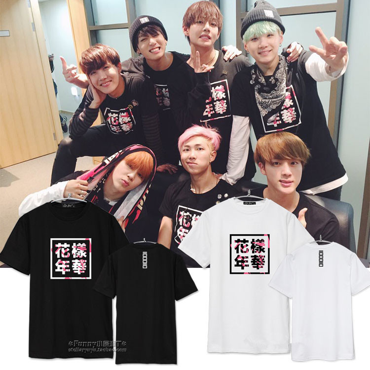 K-POP Bts Bangtan Boys man short Tshirt IN Bloom Part 2 JUNGKOOK T-shirts Rap Monster man cotton blend T shirt tee