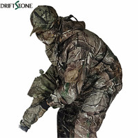 Im freien wasserdichte blätter Bionic tarnung jagd kleidung vier stück set camo jacke + pants + hat + scarf hunter ausrüstung
