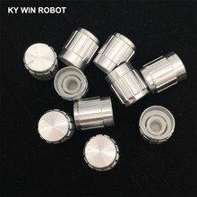 10pcs 15*17mm aluminum alloy potentiometer 15*17 knob rotation switch volume control white