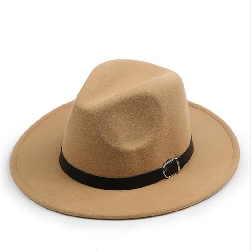 chapeu feutre Design Women's Chapeu Feminino Fedora Hat For Laday Wide Brim Sombreros Jazz Church Cap Panama Fedora top hat