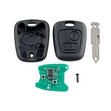 все цены на Dzanken  2 Buttons Remote Car Key 433MHz ID 46 Chip for Peugeot 206 & Transponder Chip & Uncut Blade онлайн