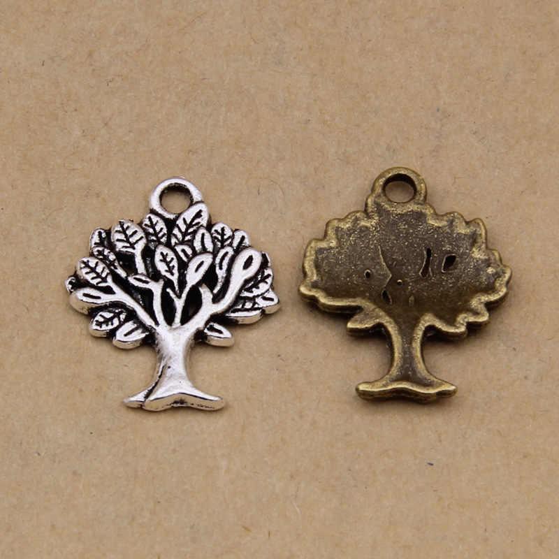 100 قطعة خمر شجرة كبيرة حُليات المجوهرات صنع لسوار/قلادة/أكياس/ملابس/أحذية الديكور موضة لتقوم بها بنفسك مجوهرات اكسسوارات