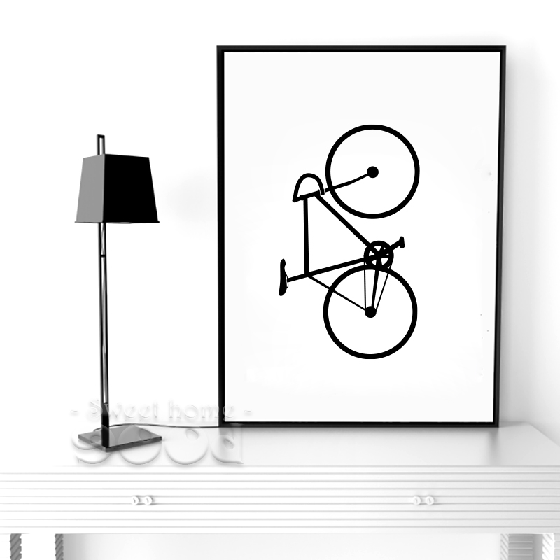 Bicycle Canvas Painting Poster, Wall Pictures For Living Room Home Decoration Print On Canvas, Frame not include FA435