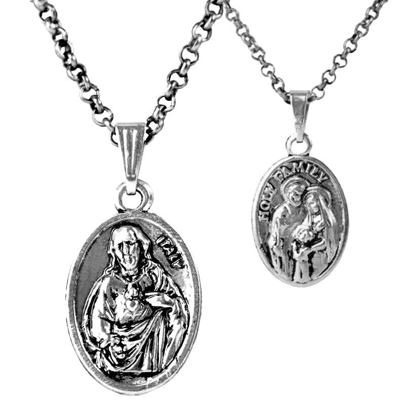 9ad51a973ad0 Pendiente de Jesús Collares mujeres Christian collar plateado colgante  redondo hombres joyería al por mayor