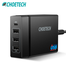 CHOETECH Multi 72W 4 Port USB Type C PD Charger Station Type-C For MacBook Pro Huawei