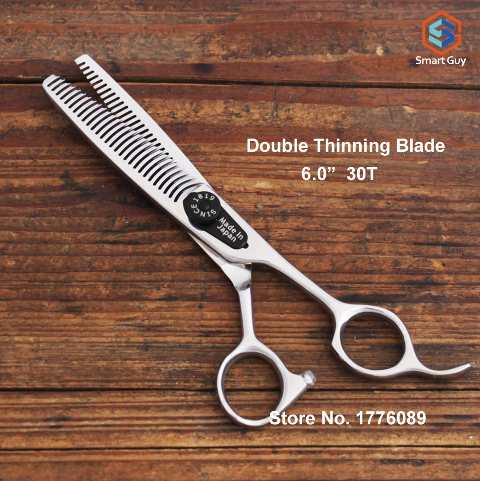 High Quality 6 0inch Double Side Teeth Thinning Scissors
