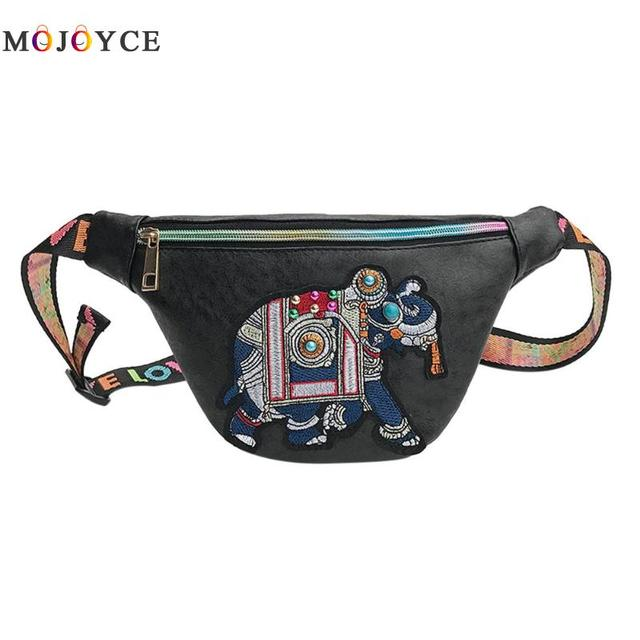 PU Leather Women Waist Bag...