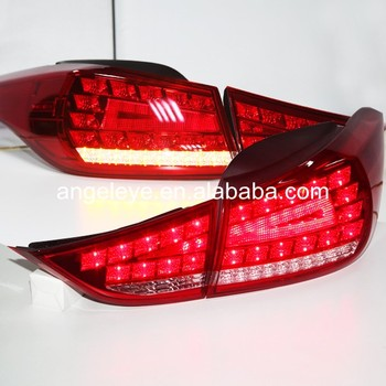 For Hyundai Avante i35 Elantra LED Tail Lamp 2011-2014 year Red White color For Benz style WH