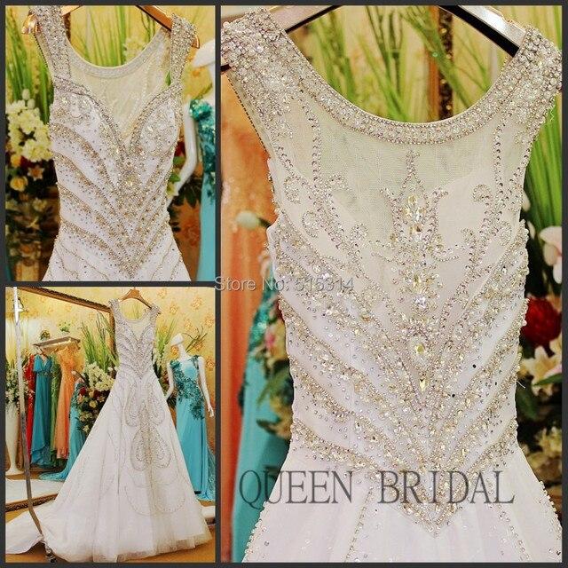 Sew On Crystal Beads Wedding Dress Sequins Beaded Vestidos De Casamento Vestido Bola Luxury Bridal