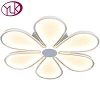 Youlaike современный светодиодный потолочный светильник цветок Дизайн акрил Панель потолочный светильник для Гостиная украшения дома Освещен