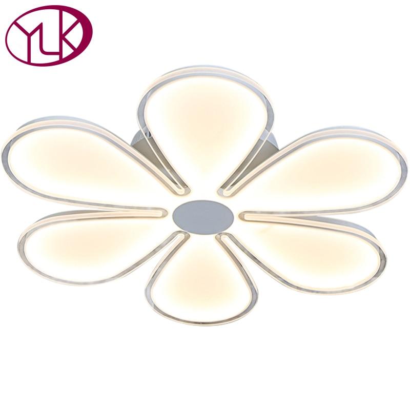 Youlaike Modern LED Ceiling Light Flower Design Acrylic Panel Ceiling Lamp For Living Room Home Decoration Indoor Lighting
