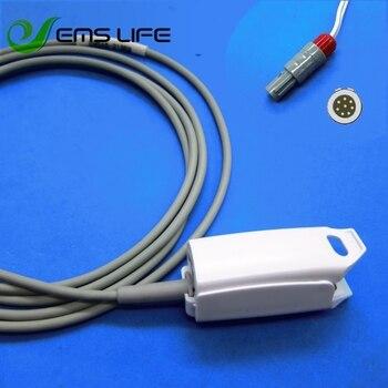 Long cable AWT adult finger clip spo2 sensor for Comen C60 masimo 8pin plastic connector