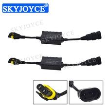SKYJOYCE 1 Pair Plug and Play Car Headlight Canbus HID Decoder EMC Warning Canceller Decoder For HID XenonLamp headlight kit