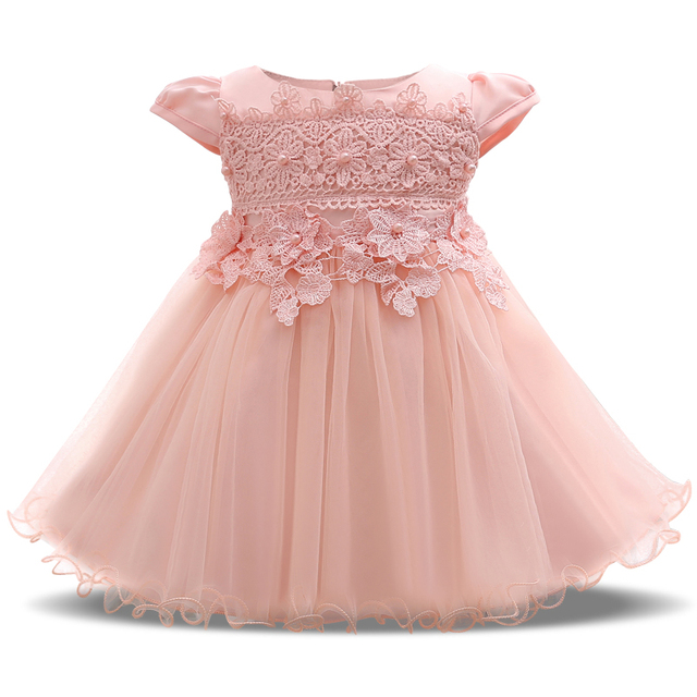 Newborn Baby Baptism Dress for Girl Party Wear First Birthday Outfit ...