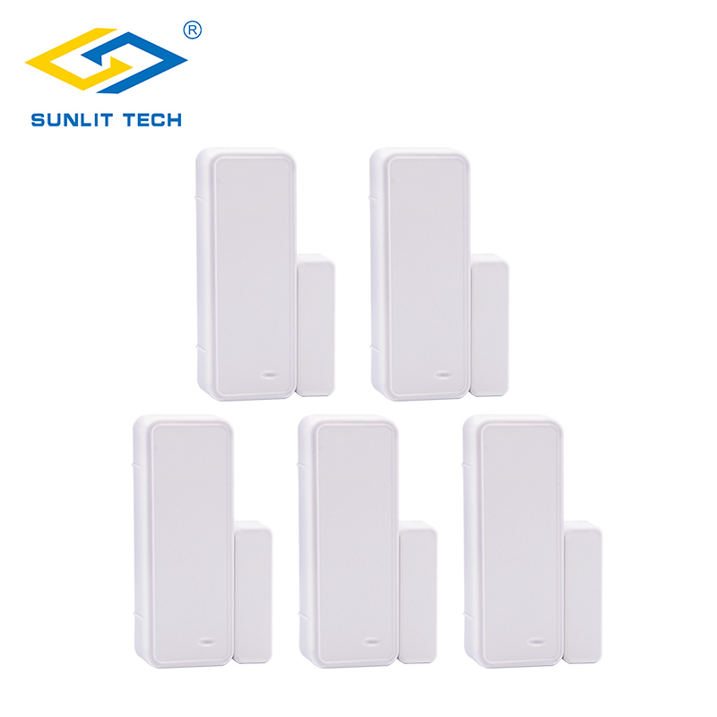 1/2/5pcs 433MHz Wireless Door Window Alarm Magnet Motion Sensor For Home Burglar Security Wifi Door Open Entry Switch Detector