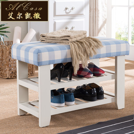 shoes rack wood shoe cabinet  stool bench shelf plaids cushion  storage ottoman furniture shoe rack nonwovens steel pipe 4 layers shoe cabinet easy assembled shelf storage organizer stand holder living room furniture