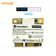 RT3090 AzureWave AW-NE762H 802.11bgn Wireless PCI Express Metade Mini Card 150 Mbps placa de Rede Wi-fi