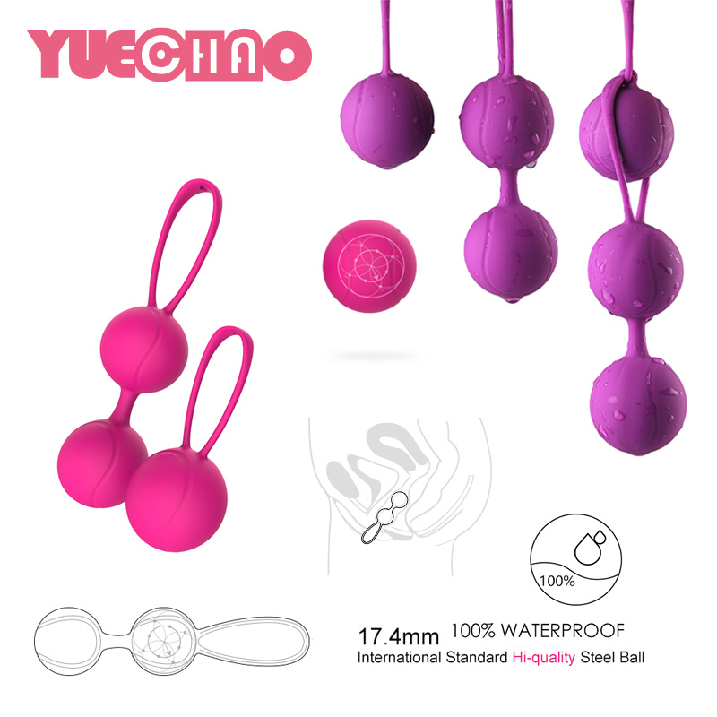 Hot Silicone Kegel Balls Massage Smart Love Ball for Vaginal Tight Exercise Ben Wa Balls Sex Vibrators Sex Toys for Women himabm 1 pcs natural jade egg for kegel exercise pelvic floor muscles vaginal exercise yoni egg ben wa ball