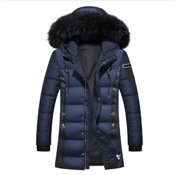 2018 winter new style men's fox collars leisure fashion 80% White duck down Down jacket Men's trench coat jackets Down Coats