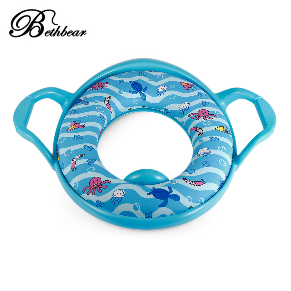 High Quality Kids Chair Potties Comfortable Soft Training Potty Seat With Handles Splash Guard For Boys Girls Pot Chair Pad Mat