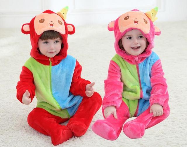 Venda de fábrica Nova 0-3 Anos de Bebê Flanela Jumpsuits Primavera Suave Desgaste Doméstico Casual Para Menino & Menina Bodysuits quentes Para As Crianças
