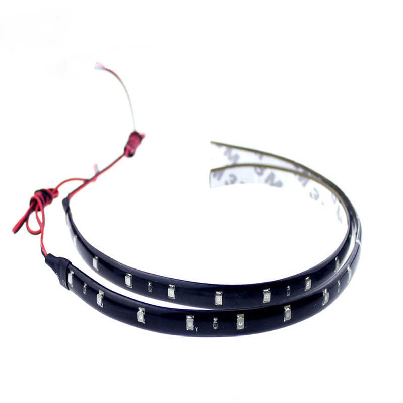 Universal Flexible Daytime Running Car Light Decorative 15SMD 30cm 12V Waterproof COB DRL Fog LED Strip Light Lamp