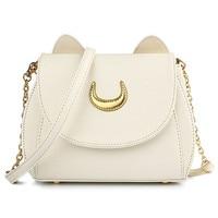 97ef1189d1056 DAUNAVIA Limited Sailor Moon Bag Ladies Handbag Black White Cat Luna Moon  Women Messenger Crossbody Bag