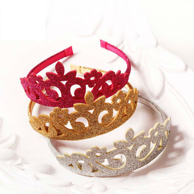#50907 Kid Girls Party use Hairbands Sparkling Crown Hair band Accessories The Head of Girls Children Headdress