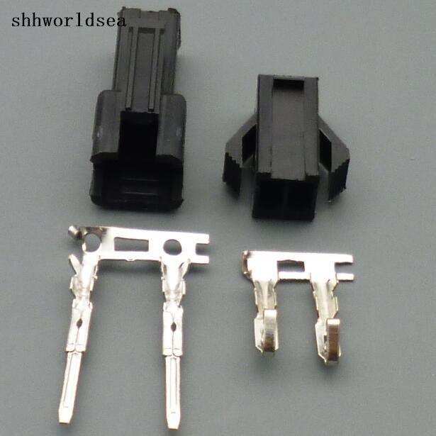 2019 New Style Shhworldsea 100sets Sm 2.54mm 2p Male And Female Connectors Wiring Terminals 2pin A Set Of:socket + Plug + Terminals Price Remains Stable