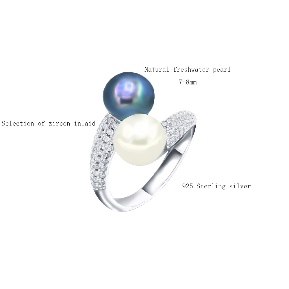 USA Seller Freshwater Pearl Ring Sterling Silver 925 Best Jewelry Selectable