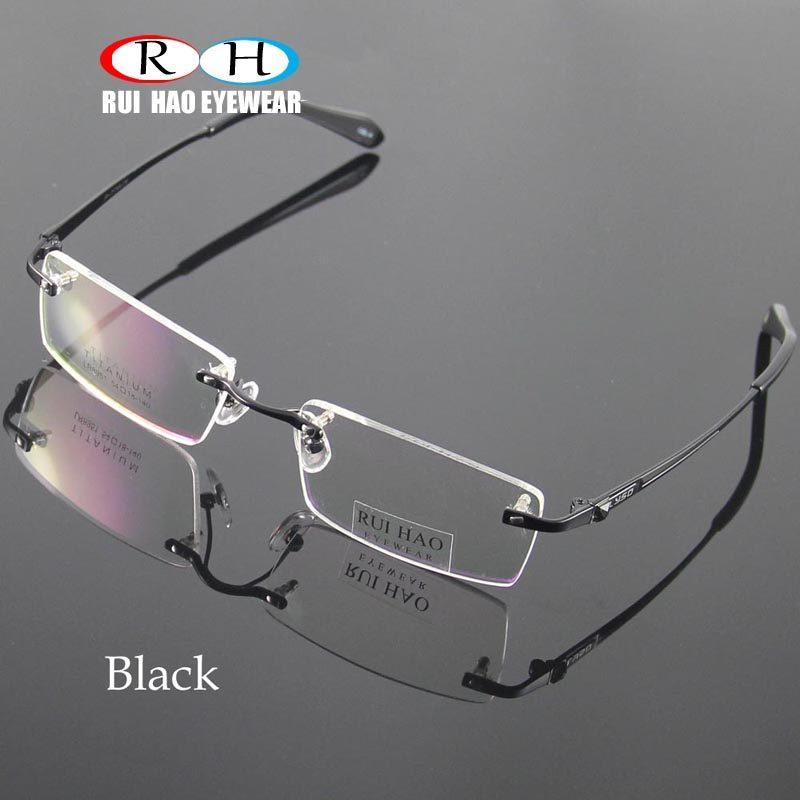 e4116d21b585d Unissex Óculos Sem Aro Homens Óculos De Armação De Titânio Óculos Armações  de Óculos Ópticos Armações