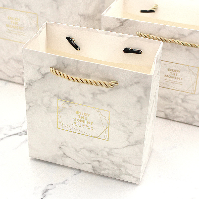 Small Box & Bag in Marble Color