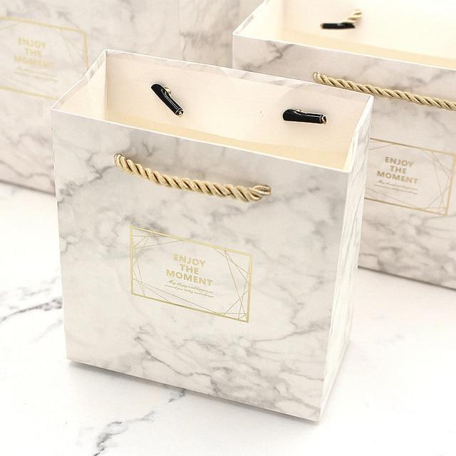 Caja Pequena Color Marmol Vintage Boda Caja De Dulces Bolsa De - Color-marmol