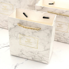 Small Box Marble Color Vintage Wedding Candy Gift Bag Kraft Paper Chocolate Boxes Cookies Womens Bags