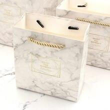 2726a0bff Pequeña caja de mármol Vintage Color de caramelo de la boda bolsa de regalo  caja de regalo de Kraft cajas de Chocolate galletas .