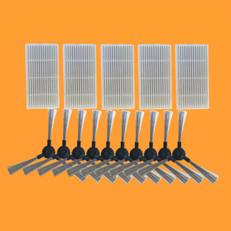 Applicable for Proscenic 790T Alpaca Plus Vacuum Cleaner Parts 5pcs HEPA Filter+10pcs Side Brush 5 pieces lot robot vacuum cleaner parts hepa filter for proscenic 790t