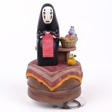 Anime Karikatür Miyazaki Hayao Ruhların Kaçışı Yok Yüz Müzik Kutusu PVC Action Figure Koleksiyon Oyuncak Bebek 12 cm