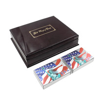 American Silver Playing Card US Liberty Style Chip Card Casino Poker Card 999 9 Silver Plated