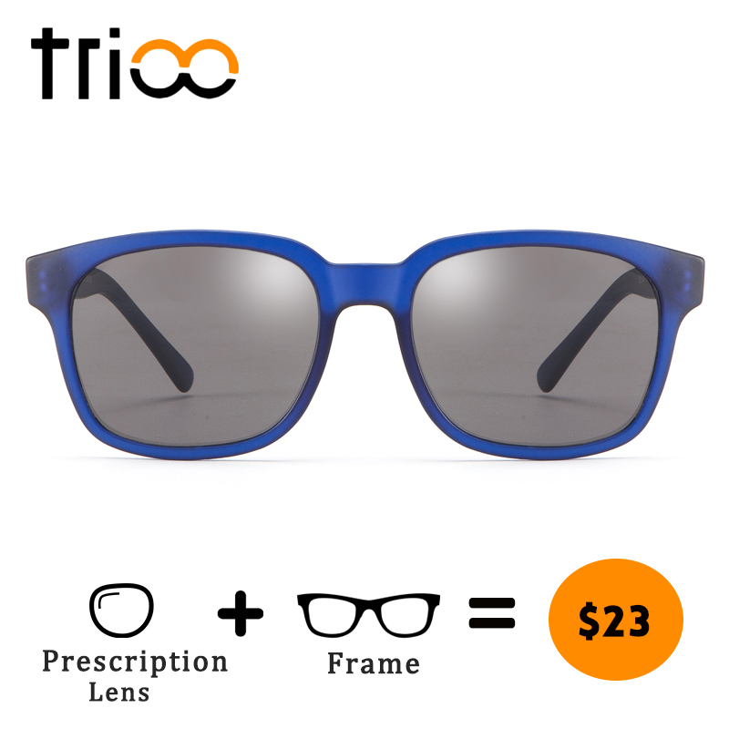 0e97f14c3a1 TRIOO UV400 Prescription Glasses Men Special Blue Minus Sunglasses Summer  Black Myopia Glasses Nearsighted Reading Eye