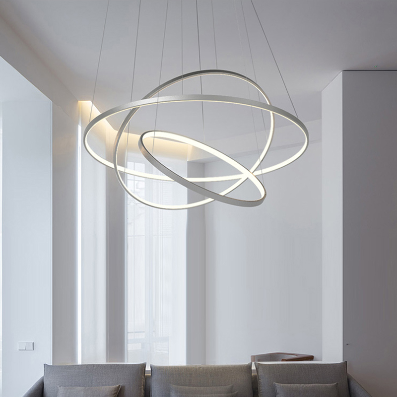 White or Black Modern Aluminum LED circle rings hanging pendant chandelier lights for living room Acrylic Lustre Chandelier 1pc white or green polishing paste wax polishing compounds for high lustre finishing on steels hard metals durale quality