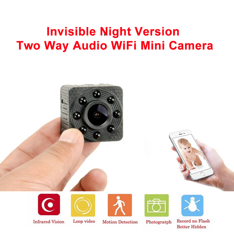 IP WIFI mini Camera 720P Night Vision for Home Wireless Security Surveillance Camera with Two Way Voice Intercom Cloud Storage 2 4ghz wireless night vision surveillance camera with 2 4 lcd handheld two way speaker receiver