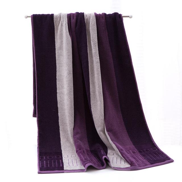 Corte pilha de toalhas de toalha de algodão absorvente de alta qualidade escuro perturbar o bebê banho do bebê toalha 70*140 1 pcs frete grátis