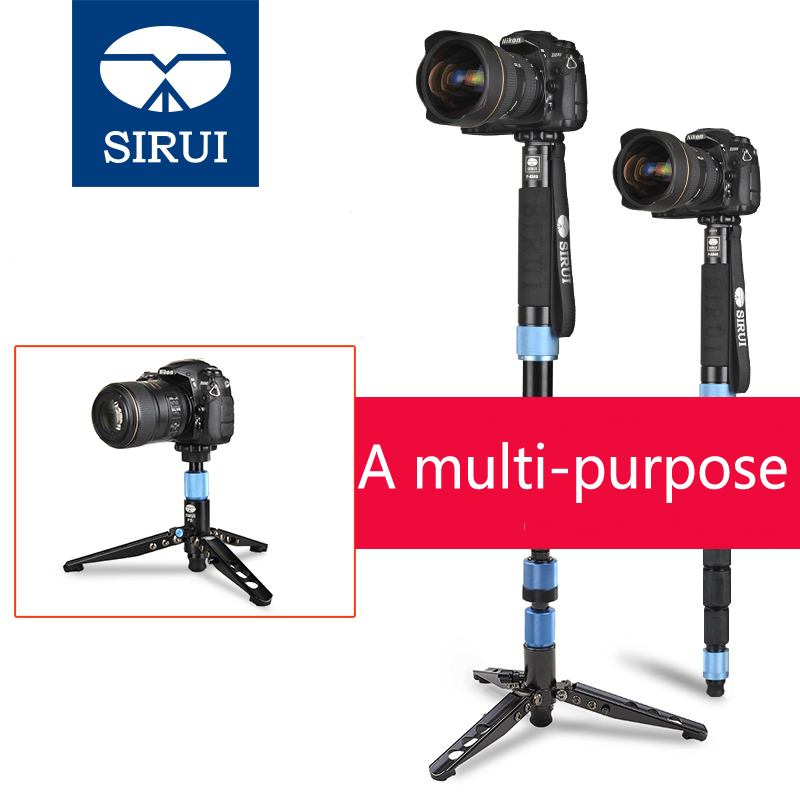 DHL Free Shipping Sirui P-204S P204S Camera Monopod Video Monopods Aluminum Table Top Tripod 4 Section Carrying Bag Max Load 8kg