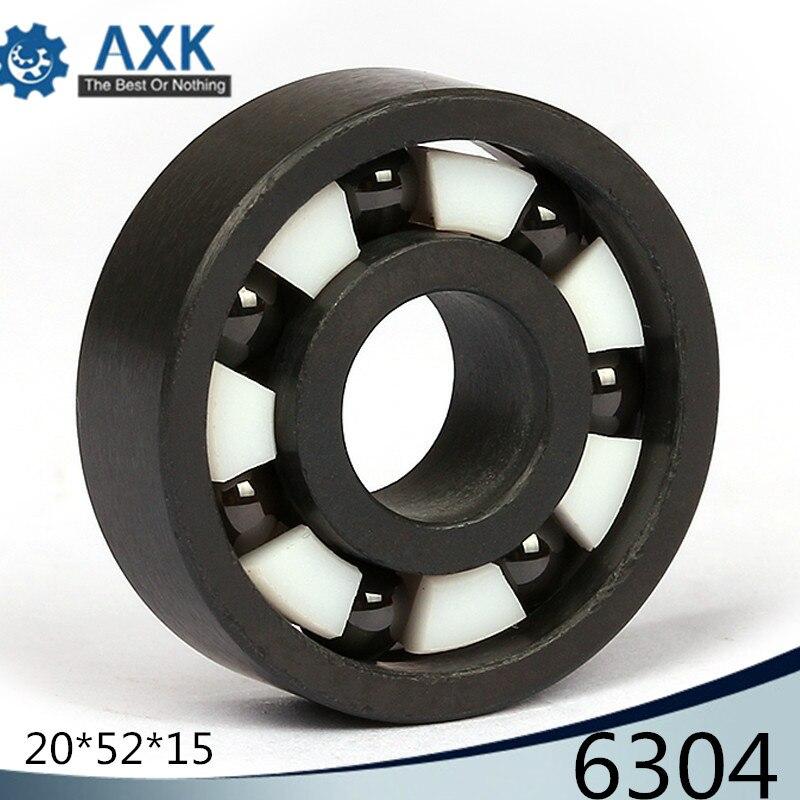 6304 roulement en céramique complet (1 PC) 20*52*15mm Si3N4 matériel 6304CE tous les roulements à billes en céramique de nitrure de silicium