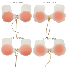 Women self-adhesive silicone instant lift tape nipple cover bra pad invisible breast petal party dress Contraction band ST-D3-6
