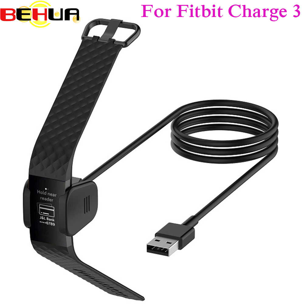 6b6eb9580 Cargador USB reemplazable para Fitbit Charge3 pulsera inteligente Cable de  carga USB para Fitbit Charge 3